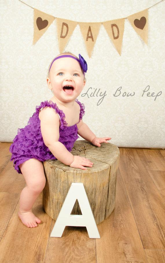 Purple Lace Petti Romper-Baby Girl Clothes-Birthday Cake ...