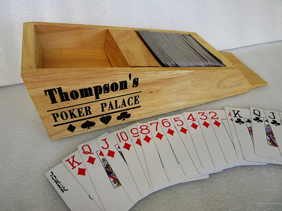 Свадьба - Personalized Birthday Gift - Blackjack Card Caddy - Blackjack Card Dealer - Poker Card Dealer - Pitboss Wood Card Shoe - Vegas Card Dealer