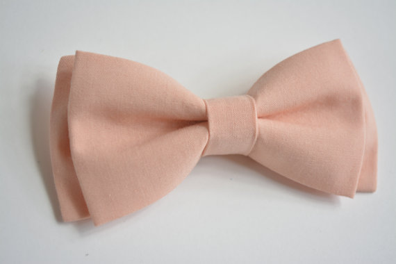0e706b807db3 Peach Bow Tie For Kids, Baby Bow Ties, Clip On Bow Ties For Boys ...