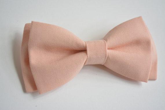 زفاف - Peach  bow tie for kids, baby bow ties, clip on bow ties for boys
