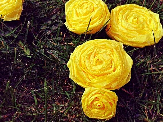 100 Roses Buttercup Yellow Wedding Aisle Runner Decorations Flower