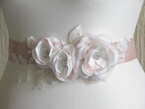 Blush Wedding Sash