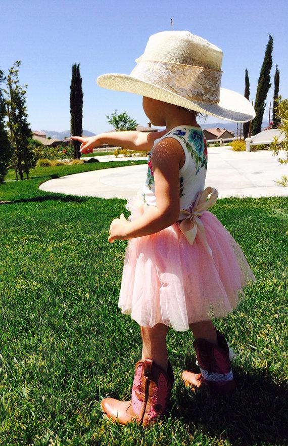 Flower Girl Dress Country Wedding Little Cowgirl Birthday
