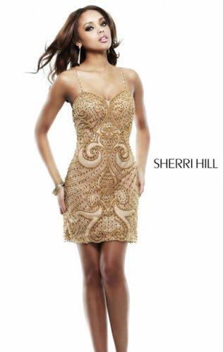 Wedding - 2015 Charming Gold Applique Embellished Beaded Cocktail Gown