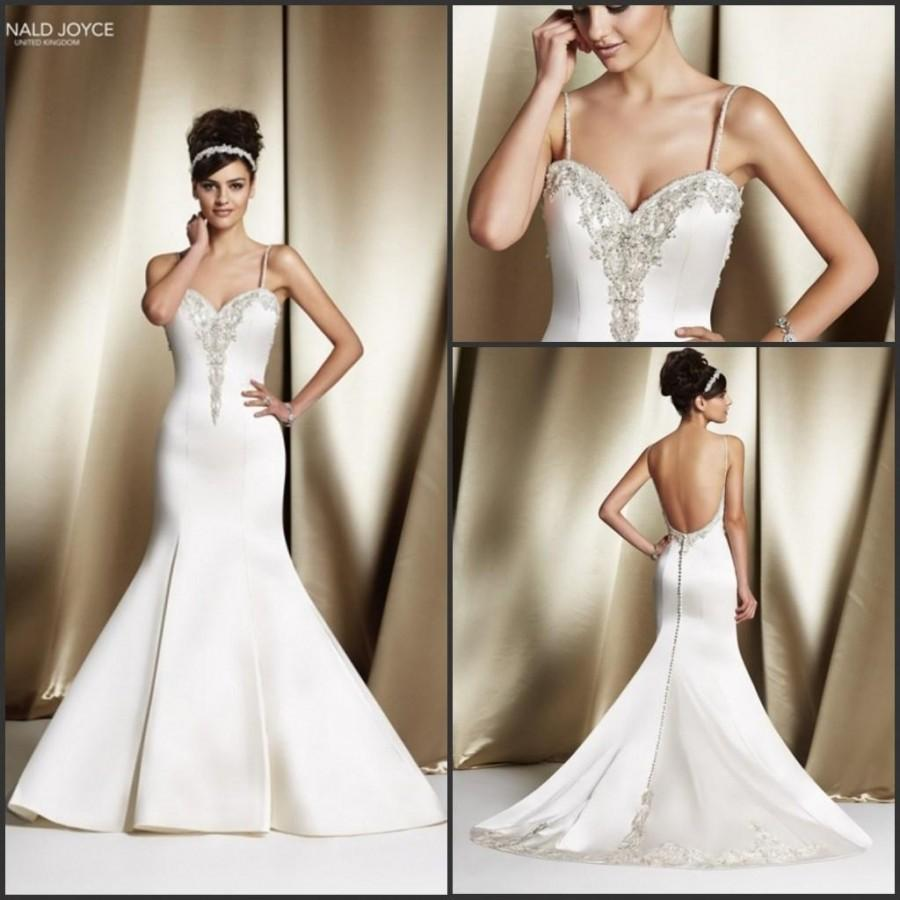 Backless mermaid sheer veni infantino 2015 wedding dresses for Backless wedding dress bra