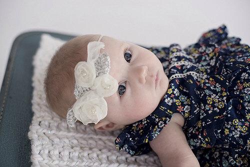 Mariage - Baptism headband Baby headband Christening Headband Adult headband Newborn Headband Wedding Headband Baby hair bows