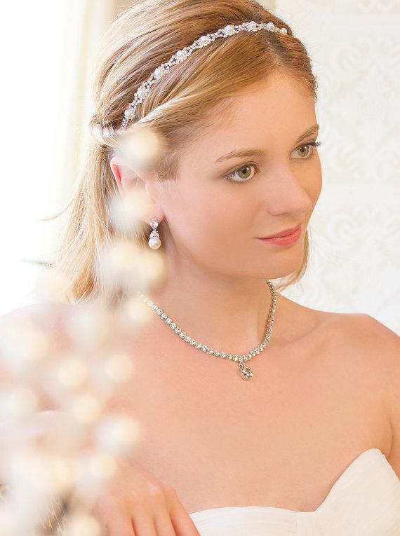 Pearl And Crystal Bridal Headband ab8468faa92