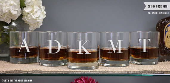 Свадьба - Personalized Groomsmen Gift - (ONE) Whiskey Glass - DOF Glass - 11oz Whiskey Glass - Wedding Glasses - Monogrammed Gift