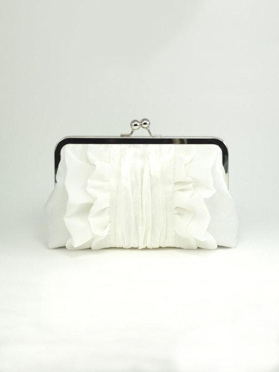 Wedding - Ivory Bridal Clutch