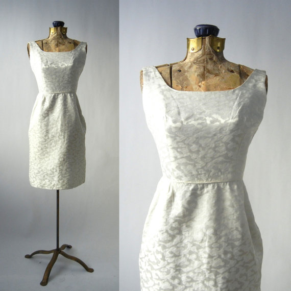 Vintage 50s white dress vintage cotton wedding dress for Vintage summer wedding dresses