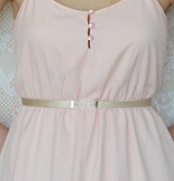 Bridal belt silver belt pearl belt dress belt for Pearl belt for wedding dress