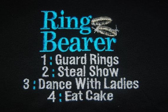 Wedding - Ring Bearer or Flower Girl T-shirt Embroidered  Wedding newborn - Childrens size