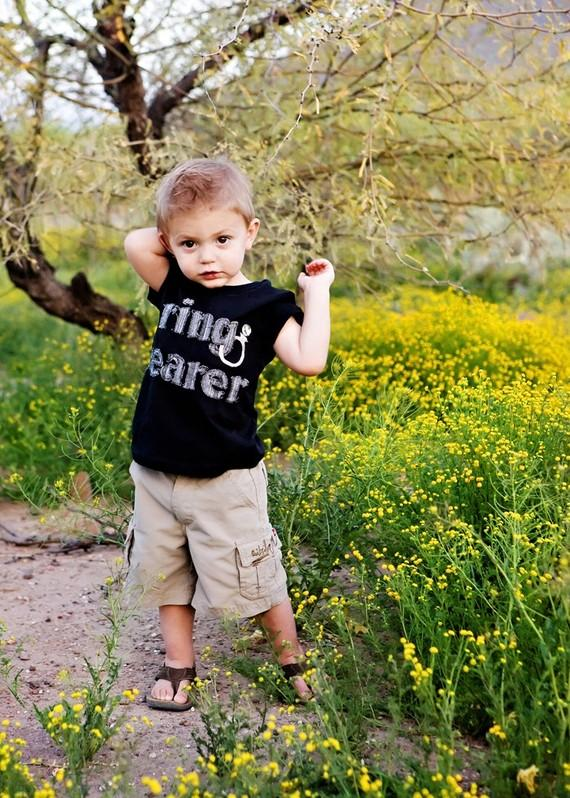 Wedding - Ring Bearer Wedding Rehearsal Shirt perfect for Wedding Rehearsals, Gift for Ring Bearer, Made to Match Wedding, Made to Order