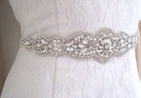 Свадьба - Pearl wedding belt crystal bridal sash belt pippa