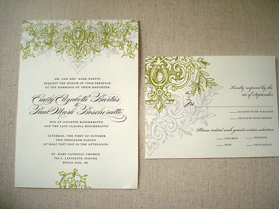Wedding - Royal Aisle Script  Wedding Collection  - Invitation Save The Date Ceremony Programs Menus Thank You Cards