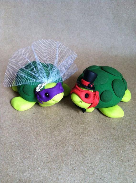 Teenage Mutant Ninja Turtle Wedding Cake Topper