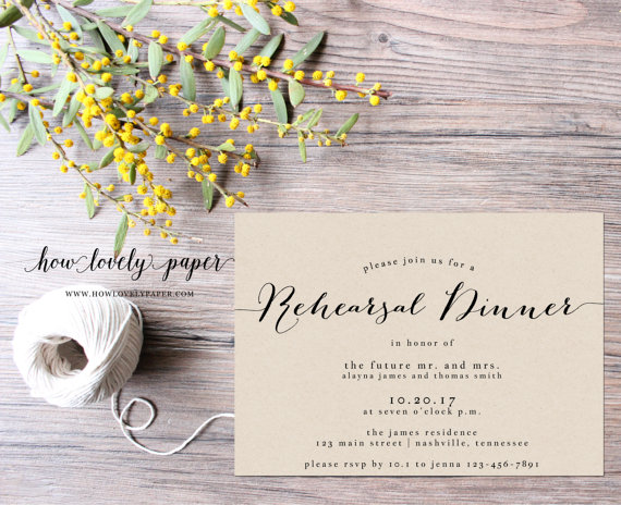 Mariage - Printable Rehearsal Dinner Invitation - the Bailey Collection