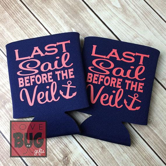 Mariage - Last Sail Before the Veil Koozie **FREE SHIPPING**