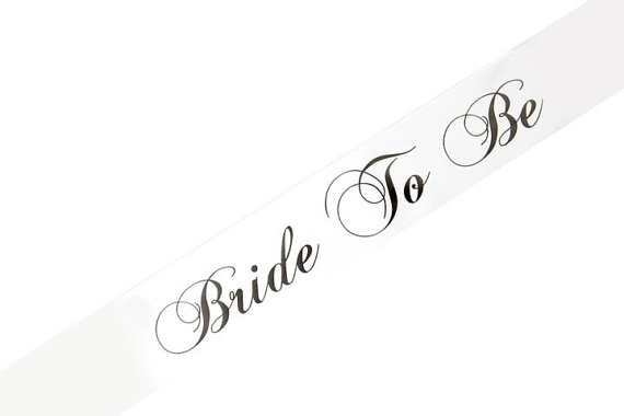 Mariage - Bride To Be Sash - Very High Quality, many colors to choose from!