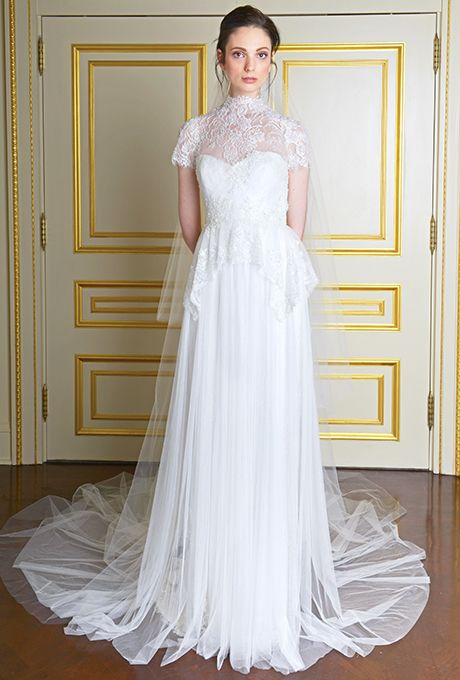 Wedding - Wedding Dresses With Illusion Necklines From Fall 2013