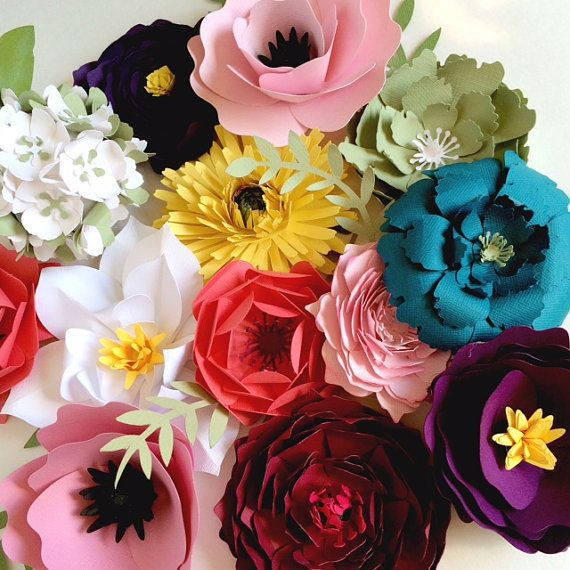 Paper Flower Wall Decor Large Backdrop DIY Kit