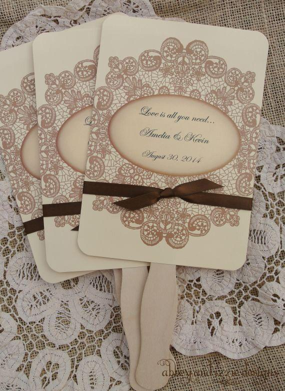 Wedding Favors Wedding Fans Rustic Wedding Vintage Wedding