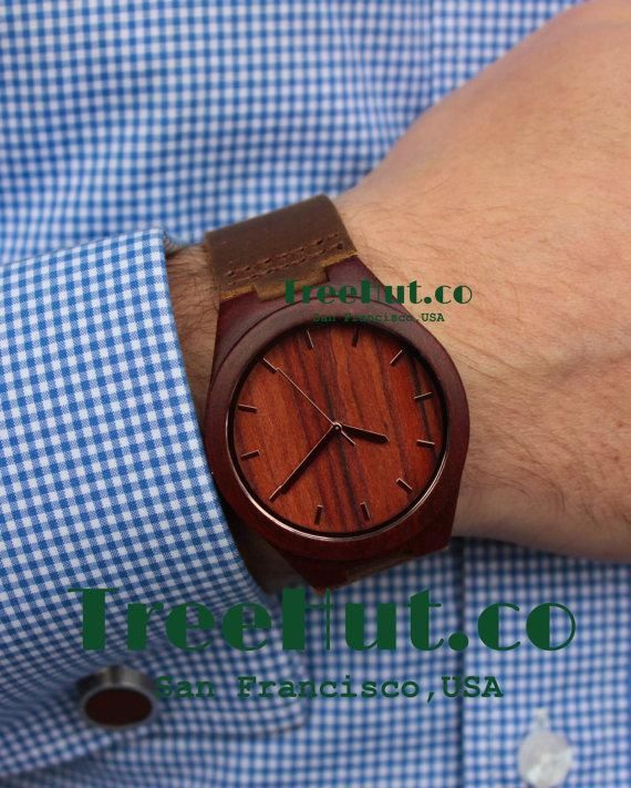 personalized mini st engraved wooden watch genuine leather personalized mini st engraved wooden watch genuine leather mens watch groomsmen gift wood watch hut021