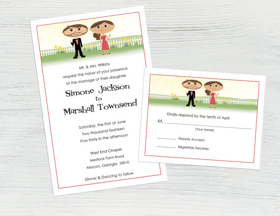 Hochzeit - Superhero Wedding Invitations and RSVP Cards, Superman Wedding Invitation Set, Comic Book Wedding Invitation Suite, Unique Wedding