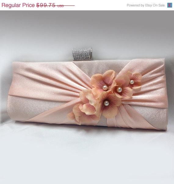 Mariage - wedding clutch, Bridal clutch, Pink clutch, evening bag, Modern clutch, bridesmaid bag, crystal clutch, bridesmaid clutch