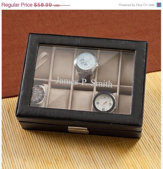 Свадьба - Personalized Mens Watch Box for Groomsmen_1082