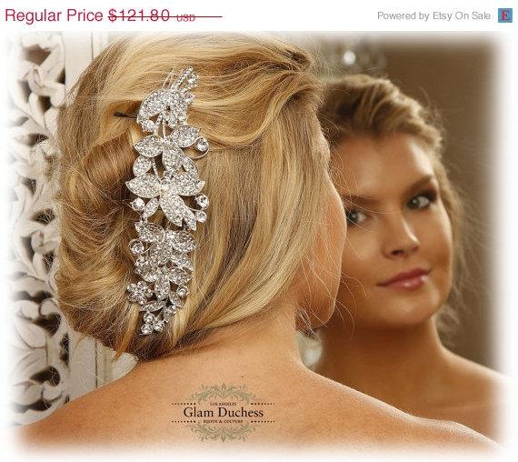 زفاف - Wedding hair accessory, Bridal hair comb, crystal comb, bridal hair accessory, Bridal crystal Rhinestone Hair Comb