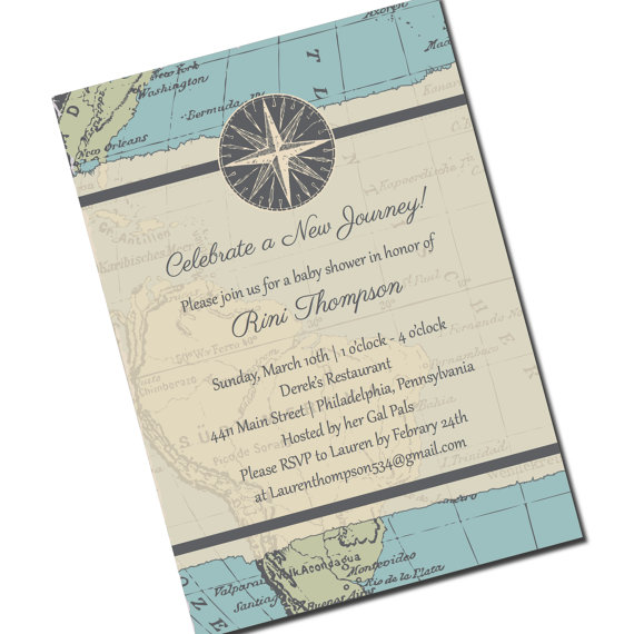 Travel baby shower invitation map personalized printable file or travel baby shower invitation map personalized printable file or print package available new journey 00013 pia7 filmwisefo