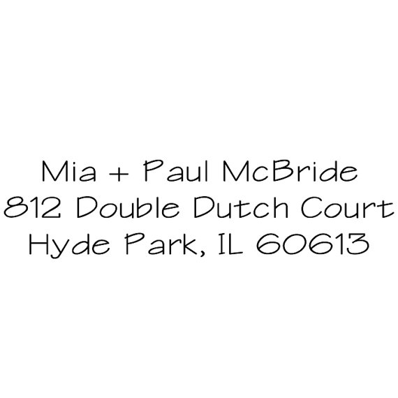 Custom return address stamp great gift for wedding housewarming bridal shower mia and - Return gift for housewarming ceremony ...