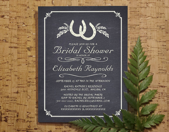 Country Horseshoe Bridal Invitations Bridal Shower Invitations