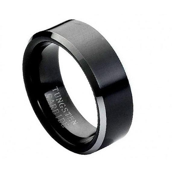 "Mariage - Tungsten wedding band  "" FREE ENGRAVING "", MMTR119 Tungsten Carbide engagement ring"