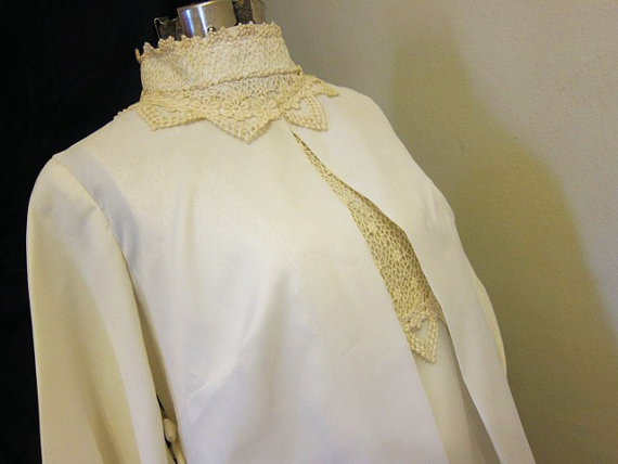 Mariage - DRESS and COAT vintage WEDDING ensemble 1960s