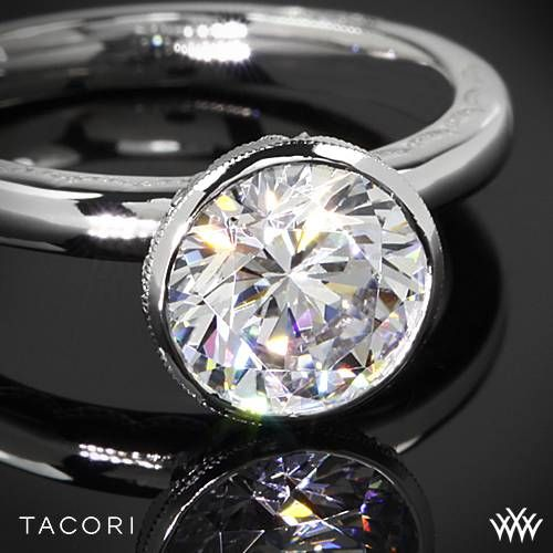 Mariage - 18k Rose Gold Tacori 300-2.5RD Starlit Classic Bezel Solitaire Engagement Ring
