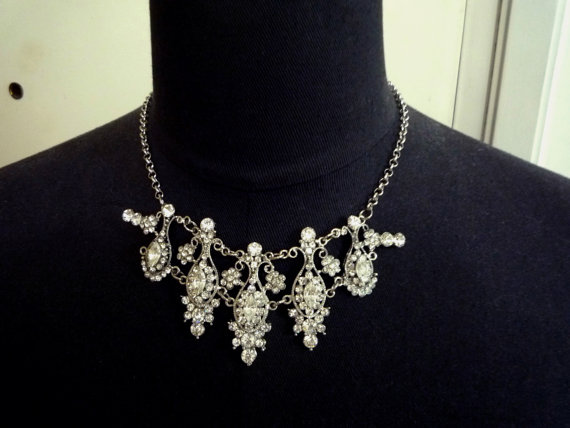 Свадьба - 1 pc Briidal Clear White Rhinestone Necklace or for  Hair Accessories  RS5