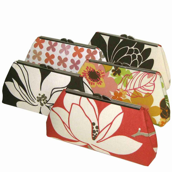 Bridesmaid Clutches Personalized Gift For Wedding Party Colorful
