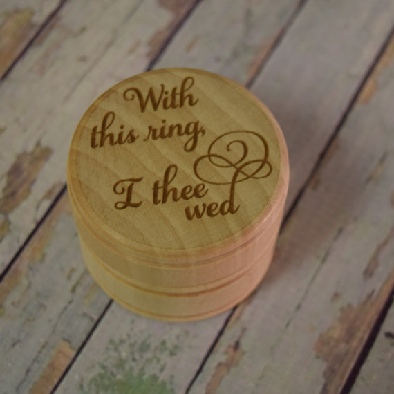 wedding ring box with this ring i thee wed wooden trinket box wedding ring keepsake jewelry box ring bearer box - With This Ring I Thee Wed
