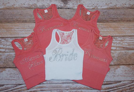 d2f9ae26e 5 Bridesmaid shirt. Bride Shirt.Bridesmaids Shirts. Bachelorette Party  Shirts. Bachelorette Shirts. Bridal Shirts.