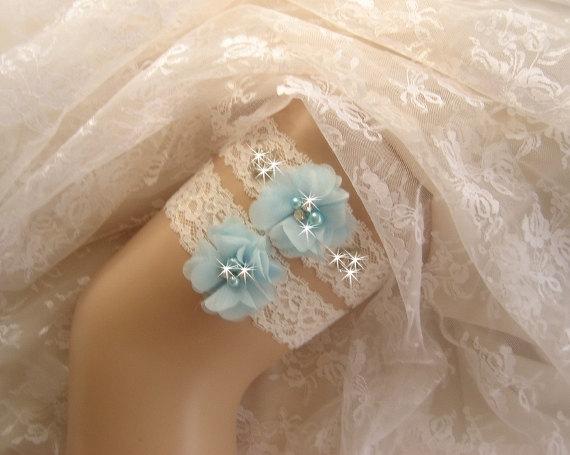 Hochzeit - Wedding Garter Set  / Crystal Garter / Rhinestone Garter /  Toss Garter / Garter Belt / Garder