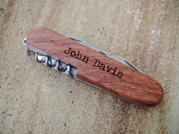 Hochzeit - Personalized Pocket Knife, Custom Knife, Engraved Knife: Gift for Him, Stocking Stuffers, Father's Day, Groomsmen, Bachelor Party