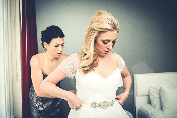 Свадьба - Rhinestone Sash, Pearls Rhinestones Bridal Sash ,Wedding Dress Sash Belt, Rhinestone Bridal Bridesmaid Sash Belt, Wedding dress sash
