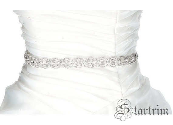 Свадьба - Ashley Swarvoski Wedding Belt, Bridal Belt, Sash Belt, Crystal Rhinestones