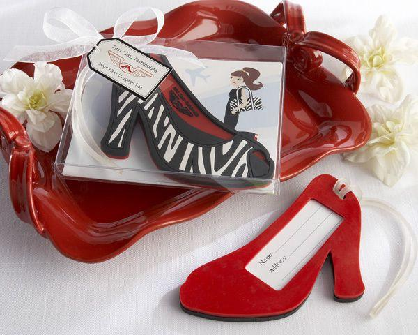 Wedding - High Heel Luggage Tag Favor