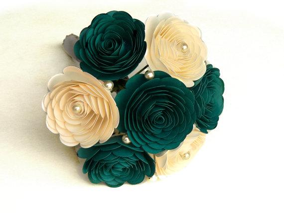 Свадьба - Teal Wedding Bouquet, Teal Bouquet, Oasis Wedding, Gem Bouquet, Oasis Bouquet