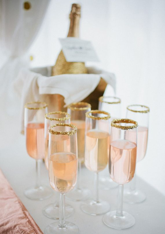 Champagne Glassed Embellished With Edible Gold Flakes! #2265520