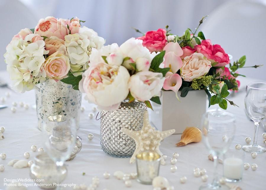 Beach Wedding Flower Centerpiece