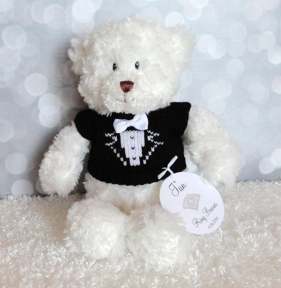Ring Bearer Gift Teddy Bear Personalized Gift Wedding Keepsake